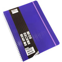 QUILL PREMIUM NOTE BOOK 200 PAGE A4 PURPLE