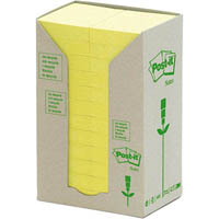POST-IT 653-RTY RECYCLED NOTES 36 X 48MM YELLOW PACK 24