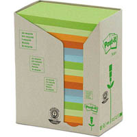POST-IT 655-RTP RECYCLED NOTES 76 X 127MM ASSORTED HELSINKI PACK 16