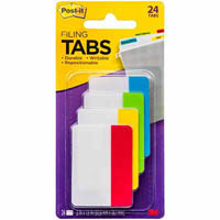 POST-IT FILING TABS 50.8 X 38.1MM ASSORTED PACK 24
