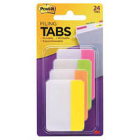 POST-IT 686-PLOY DURABLE TABS 50 X 38MM, 6 TABS EACH LIME, ORANGE AND YELLOW