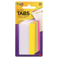POST-IT 686-PLOY3IN DURABLE TABS 6 TABS EACH PINK LIME ORANGE AND YELLOW
