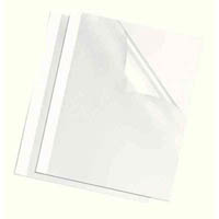 FELLOWES THERMAL BINDING COVER GLOSS BACK A4 3MM WHITE PACK 100