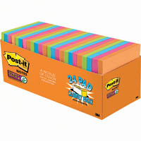 POST-IT 654-24SSAU-CP SUPER STICKY NOTES 76 X 76MM RIO DE JANEIRO CABINET PACK 24