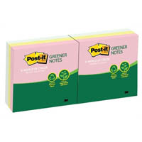 POST-IT R330-RP-6AP POP-UP NOTES 100% RECYCLED HELSINKI PACK 6