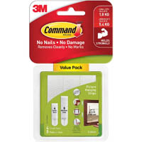 COMMAND PICTURE HANGING STRIPS SMALL AND MEDIUM COMBO PACK WHITE
