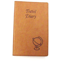 CUMBERLAND TRAVEL DIARY SOFT TAN CASBOUND 160 PAGES 210 X 135MM