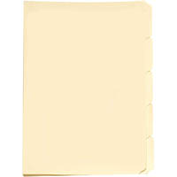 AVERY 81556 MANILLA FOLDER TABBED FOOLSCAP BUFF PACK 5