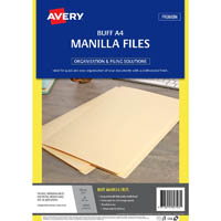 AVERY 82703 MANILLA FOLDER A4 BUFF PACK 20