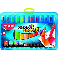 MAPED COLOR PEPS SMOOTHY CRAYONS PACK 12