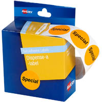 AVERY 937312 MESSAGE LABELS SPECIAL 24MM ORANGE PACK 500