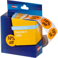 AVERY 937313 MESSAGE LABELS 10% OFF 24MM ORANGE PACK 500