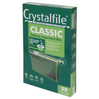 CRYSTALFILE SUSPENSION FILES FOOLSCAP CLASSIC PACK 20