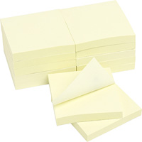 MARBIG ENVIRO REPOSITIONAL NOTES 100 SHEET 75 X 75MM YELLOW PACK 12