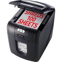 REXEL AUTO+100 SHREDDER STACK AND SHRED CONFETTI CUT 100 SHEET