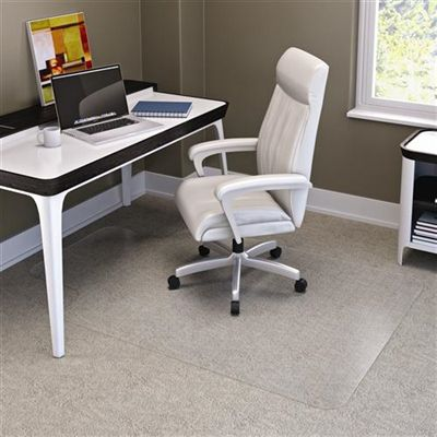 Image for MARBIG CHAIRMAT PVC KEYHOLE CARPET 1140 X 1340MM CLEAR from Mackay Business Machines (MBM)