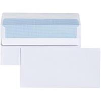 CUMBERLAND DL ENVELOPES PLAIN SELF SEAL EASY OPEN 80GSM 110 X 220MM WHITE BOX 500