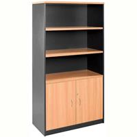 RAPID WORKER WALL UNIT LOCKABLE 1800 X 900 X 450MM BEECH/IRONSTONE