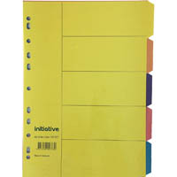 INITIATIVE DIVIDERS MANILLA 5-TAB A4 BRIGHT COLOURS
