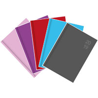 DEBDEN 2020 SILHOUETTE SERIES DIARY DAY TO PAGE A4 ASSORTED PACK 5