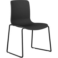 ACTI SLED BASE CHAIR BLACK FRAME WITH BLACK SHELL