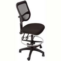 RAPIDLINE MESH CHAIR MEDIUM BACK FABRIC SEAT BLACK WITH DRAFTING KIT