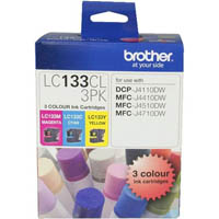 BROTHER LC133CL3PK INK CARTRIDGE CMY COLOUR PACK 3
