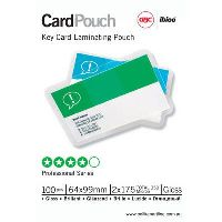 GBC IBICO LAMINATING POUCH 175 MICRON 64 X 99MM PACK 100