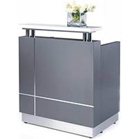RECEPTIONIST COUNTER 880 X 690 X 1150MM GREY