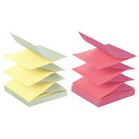 POST-IT R330-U-ALT POP-UP NOTES 76 X 76 MM ALTERNATING ULTRA COLOURS PACK 12
