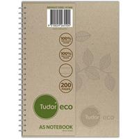 TUDOR ECO RECYCLED NOTEBOOK 8MM RULED 200 PAGE A5 NATURAL